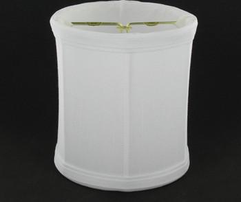 5in. White Drum Shape Candelabra Bulb Clip On Lamp Shade