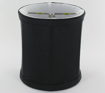 5in. Black with Off White Lining Drum Shape Candelabra Bulb Clip On Lamp Shade