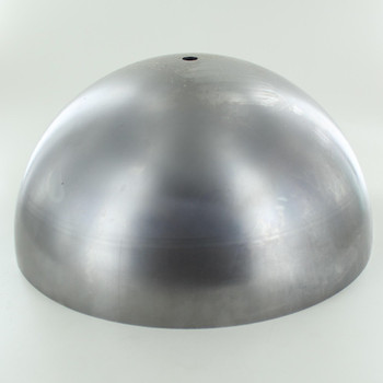 250mm. Unfinished Steel Dome Shade with 1/8ips. Slip Through Hole