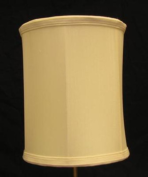 8in. Egg Shell Drum Stretch Shantung Lamp Shade