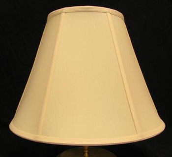 12in Empire Stretch Shantung Lamp Shade with Vertical Piping - Egg Shell