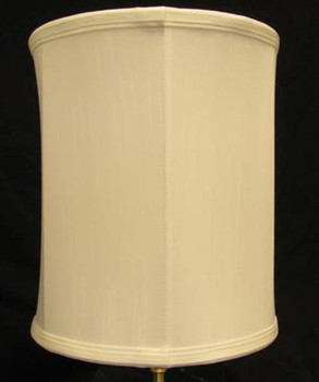 10in. Off White Drum Stretch Shantung Lamp Shade