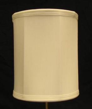 8in. Off White Drum Stretch Shantung Lamp Shade