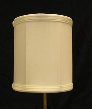 6in. Off White Drum Stretch Shantung Lamp Shade