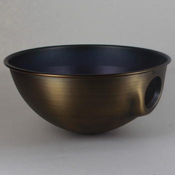 6-1/2in. Antique Brass Finish Parabolic Shade with Uno Socket Thread