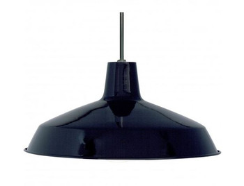Black Industrial Style Warehouse shade with E-26 Base Lamp Socket Pre-Wired with 12Ft Wire