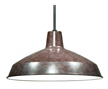 Bronze Industrial Style Warehouse shade with E-26 Base Lamp Socket Pre-Wired with 12Ft Long Wire