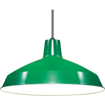 Green Industrial Style Warehouse shade with E-26 Base Lamp Socket Pre-Wired with 12Ft Long  Wire