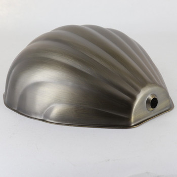 Powdercoated Steel Scallop Shell Shade - Antique Brass Finish