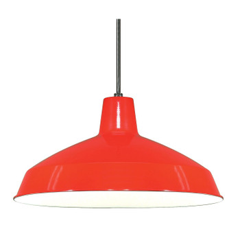 Red Industrial Style Warehouse shade with E-26 Base Lamp Socket Pre-Wired with 12Ft Wire