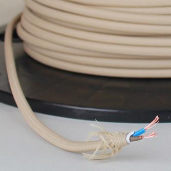 Beige Nylon Covered Oval 2 X 0.75mm Ho3vvh2-f Harmonized PVC Jacketed Light Duty Flexible Cord 250ft