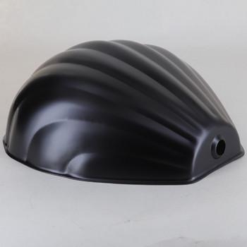 Powdercoated Steel Scallop Shell Shade - Black Finish