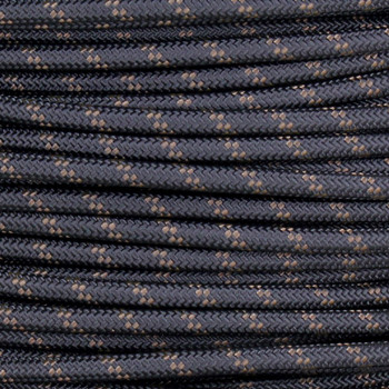 14/1 Black with Brown Tracer/Marker Cloth Covered 14 Gauge AWM Stranded Flexible Cord