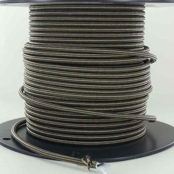 16/3 SJT-B Black/Gold Diamond Pattern Nylon Fabric Cloth Covered Lamp and Lighting Wire.
