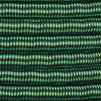 16/3 SJT-B Black/Neon Diamond Pattern Nylon Fabric Cloth Covered Lamp and Lighting Wire.