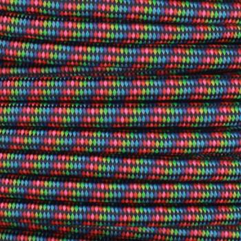16/3 SJT-B Dark Rainbow Pattern Nylon Fabric Cloth Covered Lamp and Lighting Wire.