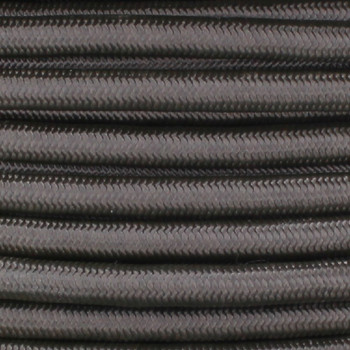 16/3 SJT-B Charcoal Nylon Fabric Cloth Covered Lamp and Lighting Wire.
