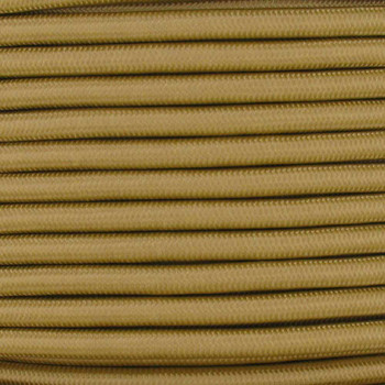 16/3 SJT-B Gold Nylon Fabric Cloth Covered Lamp and Lighting Wire.