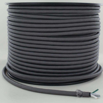 16/3 SJT-B Gray Nylon Fabric Cloth Covered Lamp and Lighting Wire.