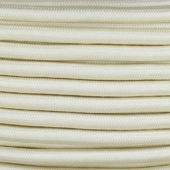 16/3 SJT-B Cream Nylon Fabric Cloth Covered Lamp and Lighting Wire.