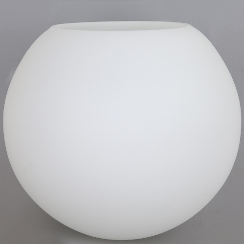 6in Diameter X 3in Neckless Hole  Opal Bristol Frosted White Glass Globe. - Made in the USA