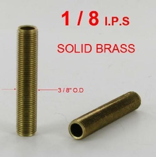 1in. x 1/8ips. Threaded Brass Hollow Nipple