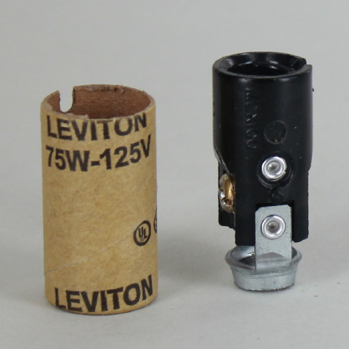 1-1/2in. Candelabra Lamp Socket with 1/8ips Hickey and Cardboard Insulator