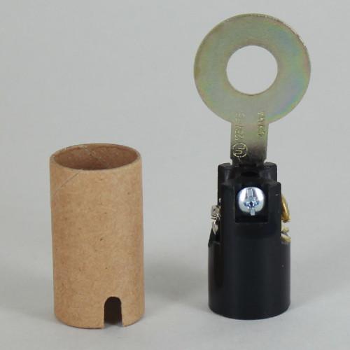 2-9/16in. Phenolic Candelabra Lamp Socket with 1/8ips. Slip Hole Washer