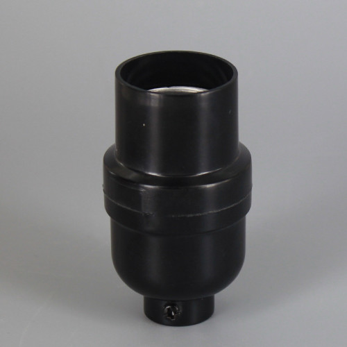 Leviton - Black Phenolic E-26 Smooth Shell Keyless Socket with 1/8ips. Bottom