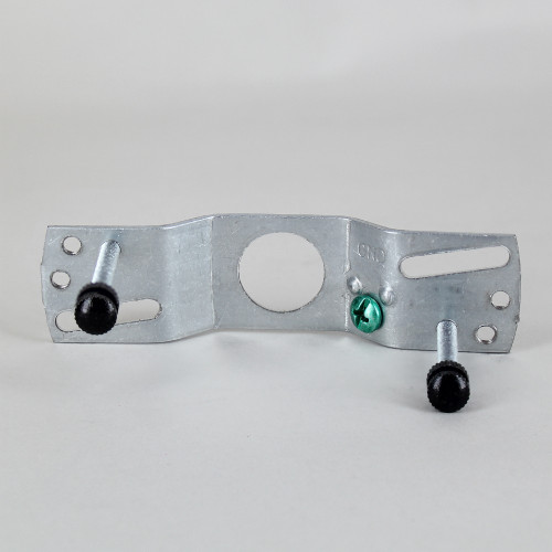 2-3/4in Bar-hole Canopy Crossbar Kit - Black Powder coated Finish