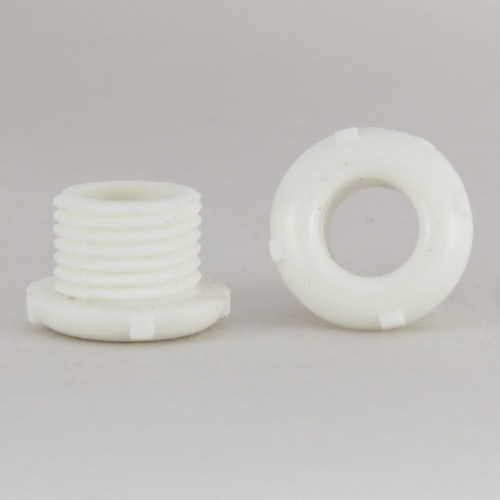1/8ips. Male Threaded Plastic Bushing - White