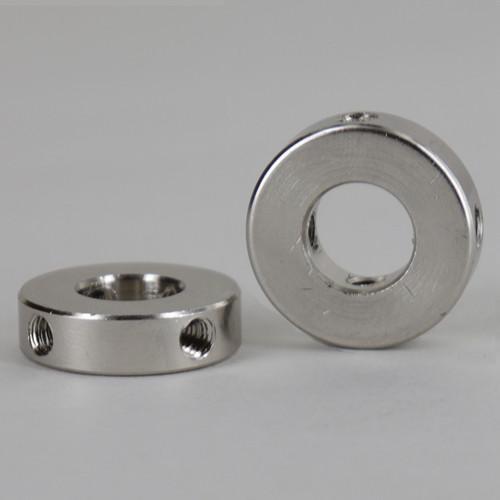 1/8ips Slip Shade Spider with (4) 8/32 Threaded Side Holes - Polished Nickel Finish