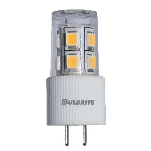 2 Watt, 12V LED JC Clear G4 Base Bulb. Warm White Light 2700K, 70 CRI, 30 Lumens. 15,000 Average Life. 0.400in Diameter 1.25in Length