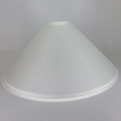14in Diameter Frosted Cone Shade with 1-5/8in Hole