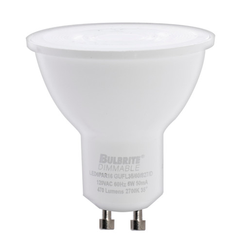 6W - LED - PAR16 - 2700K - GU10 - Flood Dimmable 80CRI 120V Bulb.