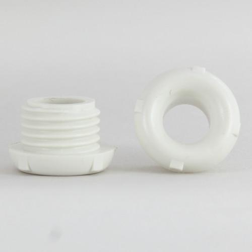 1/4ips. Male Threaded Plastic Insulating Bushing - White