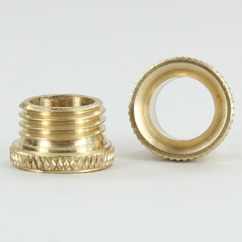1/4ips. Male Threaded Brass Cord Inlet Knurled Bushing - Brass