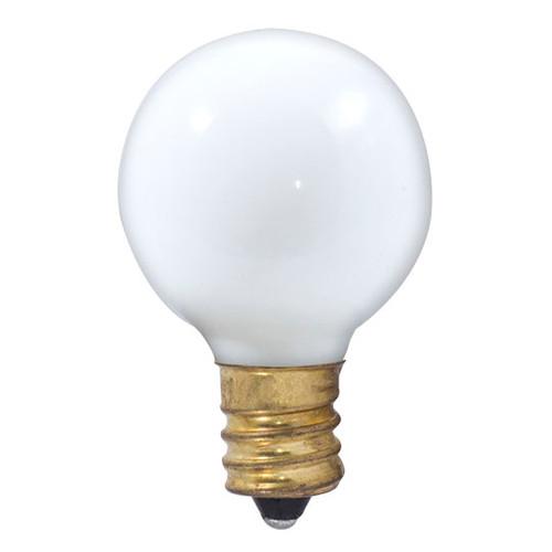 10W G9 Matte White 1-1/8in Diameter E-12 Base Globe Bulb