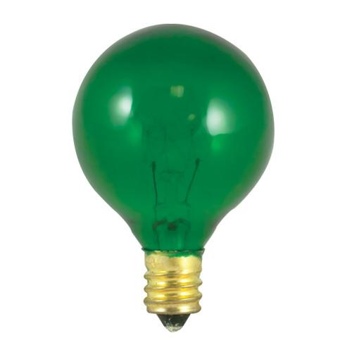 10W Green E-12 Base 1-1/2in. Globe Bulb