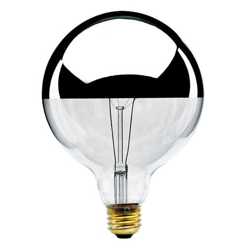 100W Silver Crown E-26 Base G40 5in. Globe Bulb