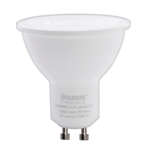 6W LED PAR16 2700K GU10 FLOOD DIMMABLE 80CRI 120V