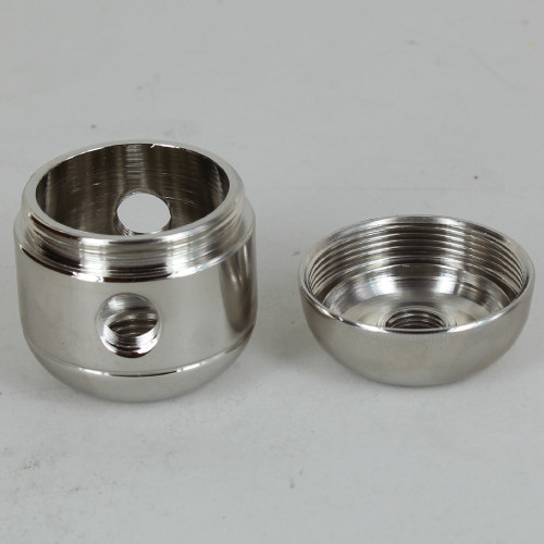 2 X 1/8ips. Side Holes - 1/4ips Bottom - Large Cluster Body - Nickel Plated