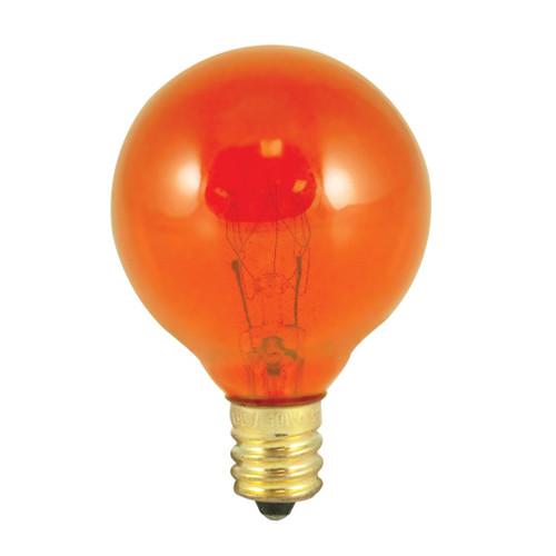 10W Amber E-12 Base 1-1/2in. Globe Bulb