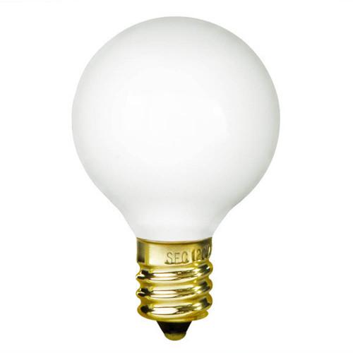 10W White E-12 Base 1-1/2in. Globe Bulb