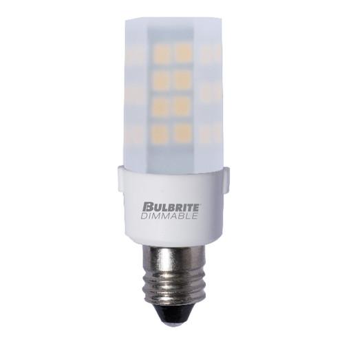 4.5 W LED Mini T4 Dimmable E12 Candelabra Screw Base  Light Bulb 3000K - Frost Finish