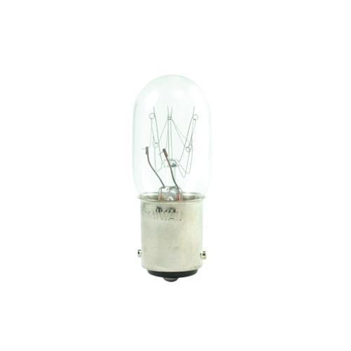 15W - 120V  T7 Clear Tubular BA15D Base Bulb.