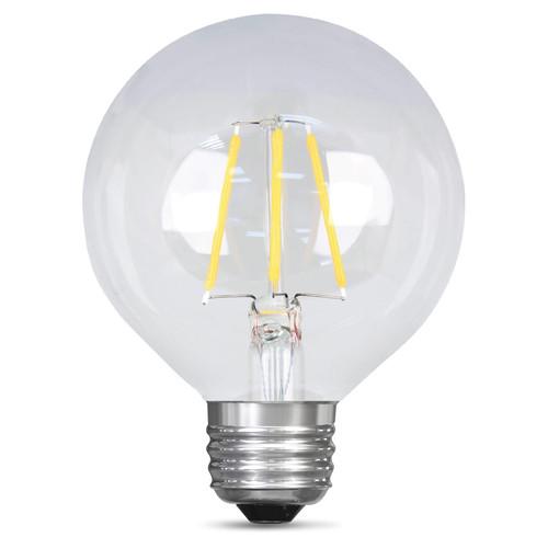 2.5W Clear Dimmable LED E-26 Base G25 Globe Bulb