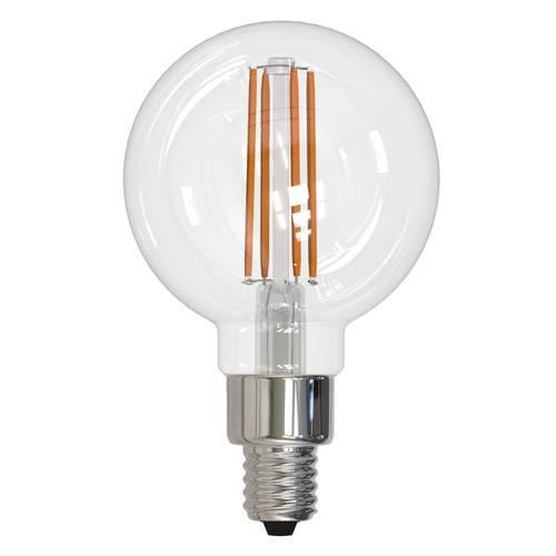 4W LED E12 Base G16 Globe 3000K Filament Fully Compatible Dimming Bulb - Clear