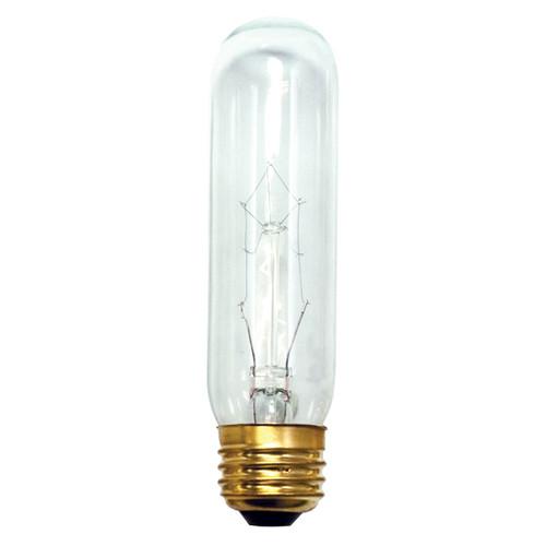 25W Clear E-26 Base T10 Tubular Bulb