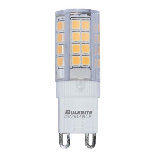 4.5W T4 120V 2-Pin G9 Base Clear Finish 2700K LED Miniature Light Bulb